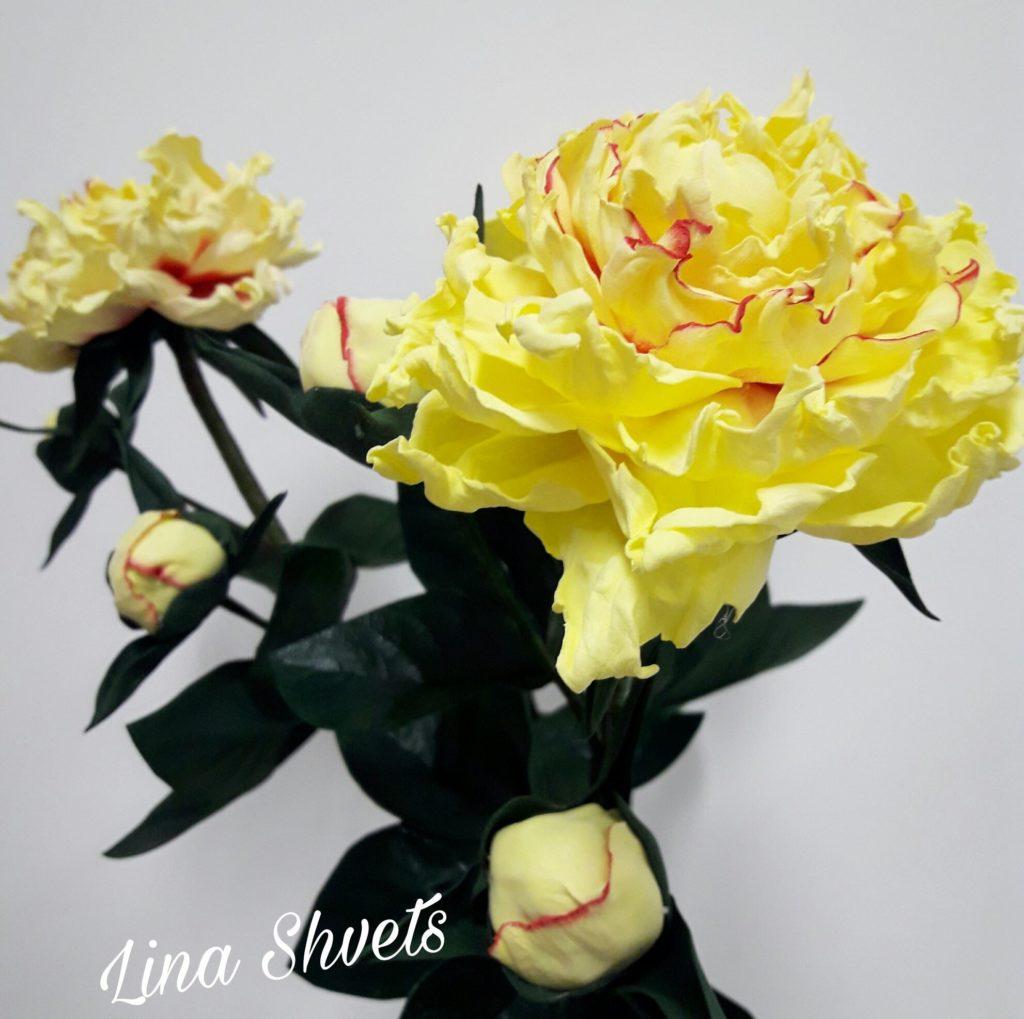 Lina Shvets – PIWONIA (foamiran)