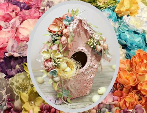 Wiosenne budki i kwiaty z foamiranu z Agnieszką Cebulą